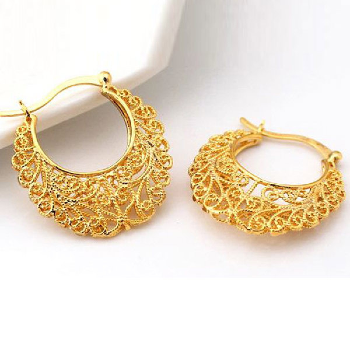 SecretShop24.com | 18k Real Gold Plated Excellent Craft Hollow ...
