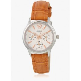 Previous Back to Watches Casio Enticer Lady's Ltp-2085L-5Avdf-A862 BeigeSilver Analog Watch