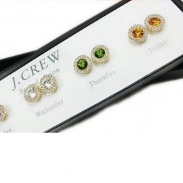 J. Crew Beautiful 5 Colors Earring Set