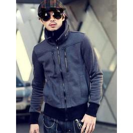 Men's Double Collar & Double Zipper Jacket