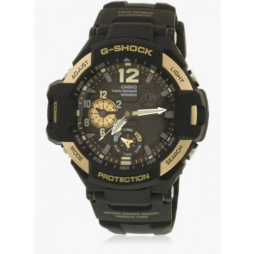 Casio G-Shock Ga-1100-9Gdr Black/Black Analog & Digital Watch