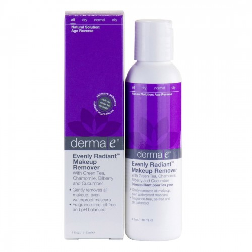 Derma E Evenly Radiant Makeup Remover (With Green Tea, Chamomile, Bilberry and Cucumber)