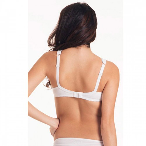 Lovable White Encircle Wireless Bra