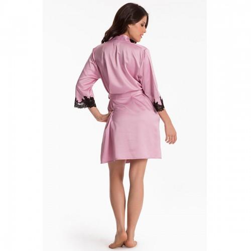 Prettysecrets Pink Lace-Trim Wrap