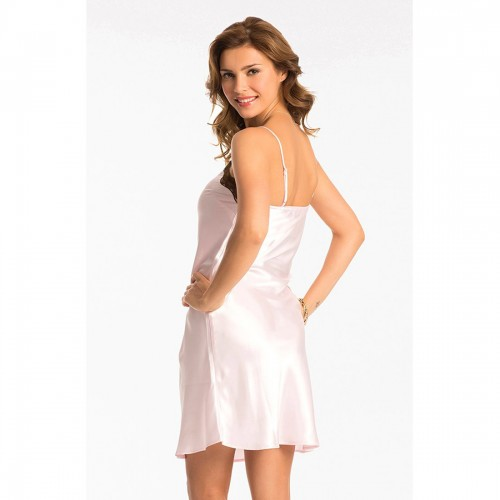 Prettysecrets Pearl Rose Brown Short Chemise
