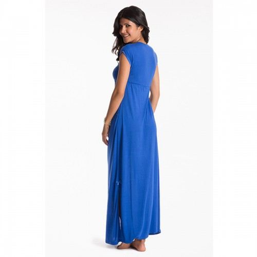 Prettysecrets Cobalt Long Night Dress