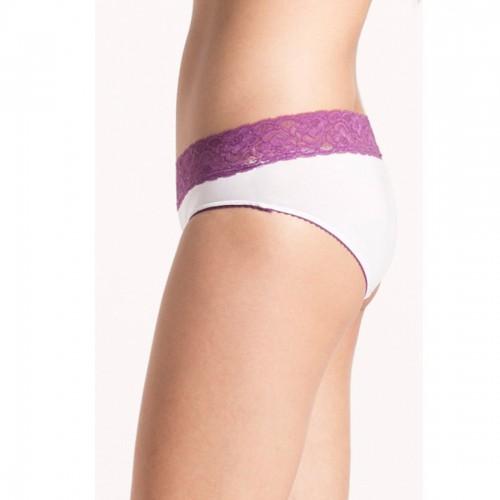 Prettysecrets White Purple Lacy Hipster