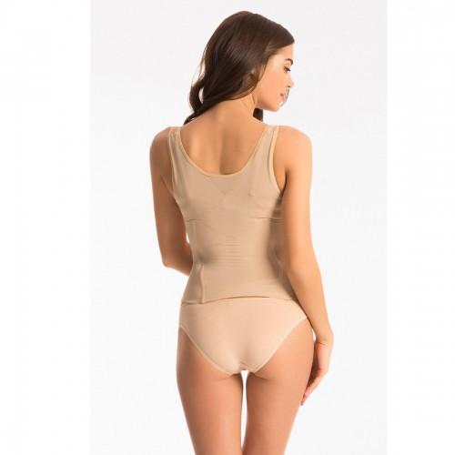 Prettysecrets Brown Scallop Lace Nude Corset
