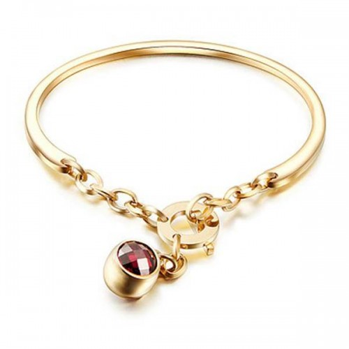 Le Frou Rose Gold Plated Red Charm Bracelet