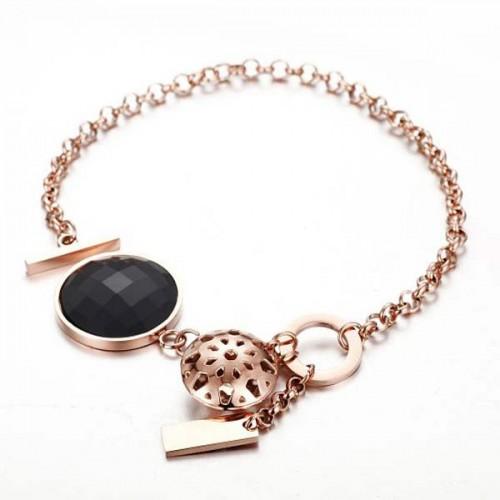 Le Frou Women's Rose Gold Plated Charm Bracelet