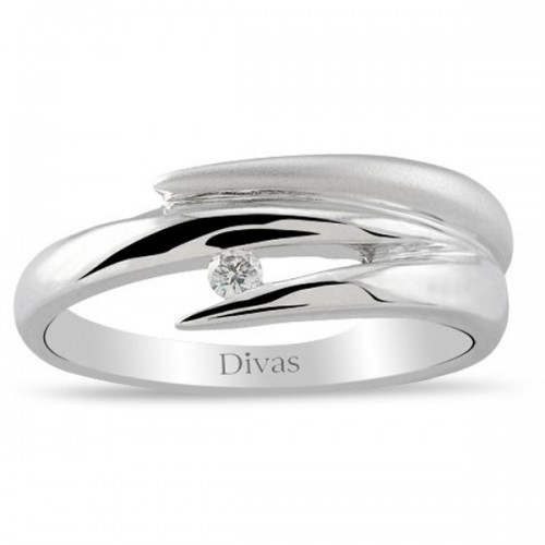 Divas Diamond – Contemporary Design Diamond Solitaire Ring (US 7 Size)
