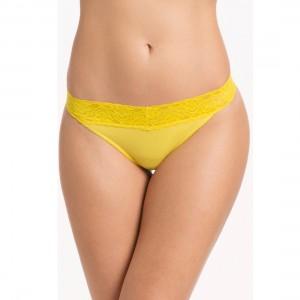Prettysecrets Yellow Lacy Thong