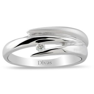 Divas Diamond – Contemporary Design Diamond Solitaire Ring (US 7 Size)