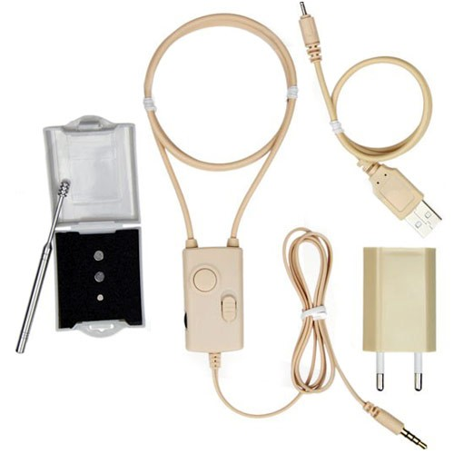 Magnetic Spy Earpieces with Amplified Induction Neckloop