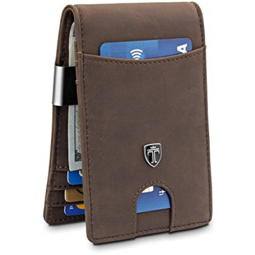 TRAVANDO Mens Wallet slim Front Pocket