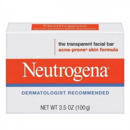 Neutrogena Acne-Prone Skin Formula Transparent Facial Bar, 3.5 OZ (100g)