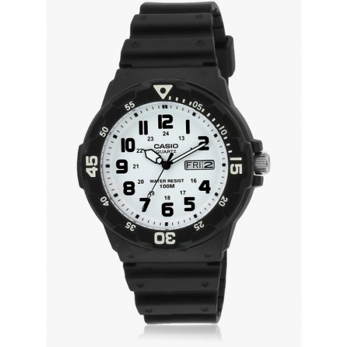 Casio Enticer Men's Mrw-200H-7Bvdf Black/White Analog Watch