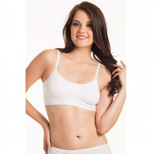 Enamor White Pink Sports Bra