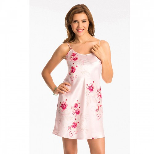 Prettysecrets Pearl Rose Floral Short Chemise
