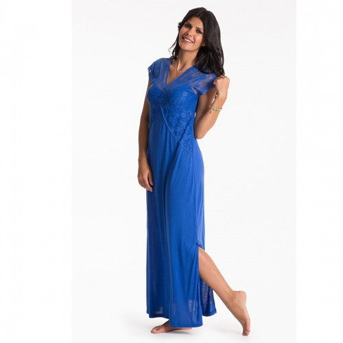 Prettysecrets Cobalt Long Night Dress