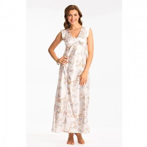 Prettysecrets Ivory Floral Long Nightdress