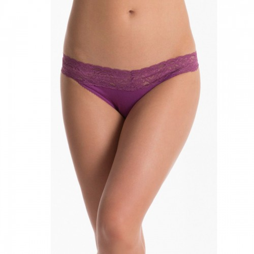 Prettysecrets Purple Lacy Thong