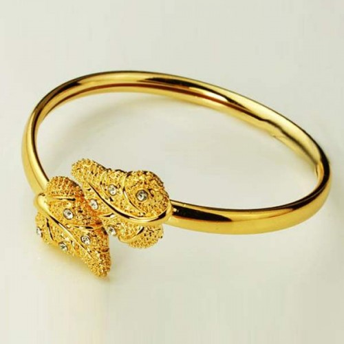 Genuine 18k Yellow Gold Filled Gorgeous Cuff Bracelet (Bangle)