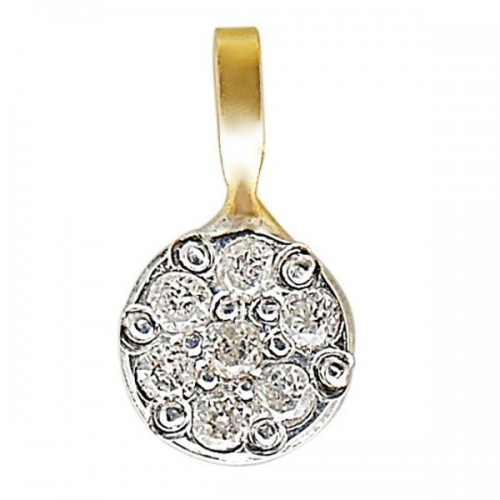 Vp Jewels 10K Solid Gold 0.07ct Genuine Diamond Solitaire Pendant