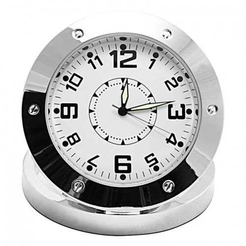 Aluminium Table Clock Spy Camera 1.3MP